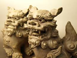 shisa statues shisa or okinawan guardian dogs place on either side of your