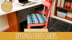 How To Upholster Dining Room Chairs by How To Upholster A Dining Chair Kitchen Preview Hgtv Handmade