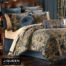 cassandra jacobean floral dark blue comforter bedding by j queen