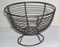 Small Table Ls Primitive Egg Basket Etsy