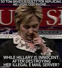 Hillary Clinton Cell Phone Meme - tom brady vs hillary clinton imgflip