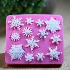 christams silicone snowflakes cake mold xmas fondant cake