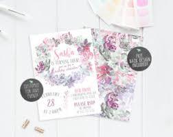 birthday invitations birthday party invitations girl birthday invite etsy