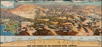 Boulder Colorado Map Map And Profile Of The Colorado River Aqueduct Barry Lawrence