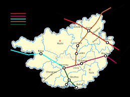 Guilin China Map by Nanning Guilin Yangshuo By High Speed Trains Bus