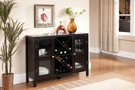 wine storage sideboard incredible black wood buffet table