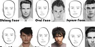 haircut for rectangle shape face long and short hairstyles for men according to face shape