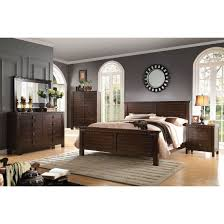 brooklyn 4pc california king panel bedroom set in espresso