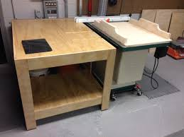 Router Cabinet by A Few Shop Projects Router Cabinet Outfeed Table And Crosscut