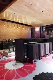 stunning interior of kinoya japanese bistro by jean de lessard