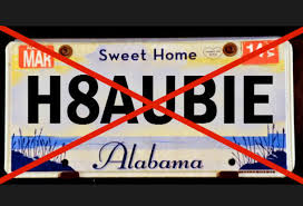 Dmv Vanity Plate Updated U0027hate Bama U0027 Tags Somehow Making It Past State Of Alabama