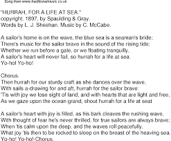 Shakespeare Lyrics Meme - old time song lyrics for 55 hurrah for a life at sea