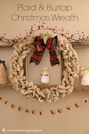 all about my burlap plaid and burlap christmas wreath sweet