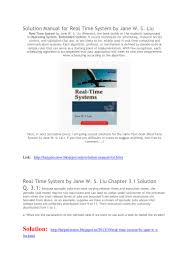 full solution manual real time system by jane w s liu solution manual