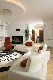 47 beautiful modern living room ideas in pictures white and natural wood living room holds a pair of ultra modern sofas with rotating