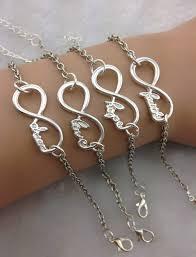 bracelet infinity love images 4pcs silver infinity bracelet dream healthy wish bracelet love jpg