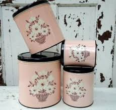 pink canisters kitchen pink vintage kitchen tins to go with the pink sunbeam mixer and