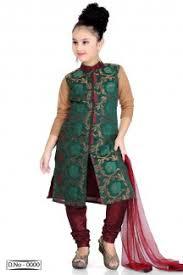 fancy fesitve wear net fabric maroon color girls dress from