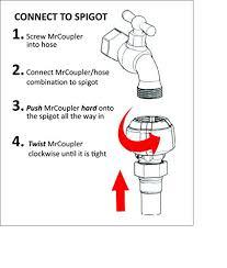 Hose Quick Connect Outside Spigot Extender Arthritis Friendly Amazon Com Mrcoupler Single Piece Push And Twist Premium Quick