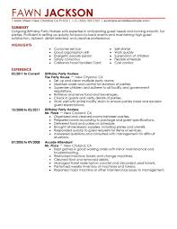 Slot Technician Resume Best Birthday Party Host Resume Example Livecareer