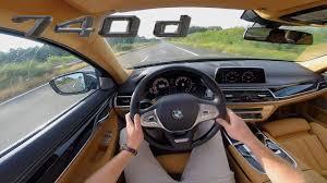 bmw 7 series 2017 740d acceleration u0026 top speed interior pov test