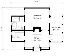 How Big Is 500 Square Feet 560 Ft 20 X 28 House Plan Small Home Plans Pinterest