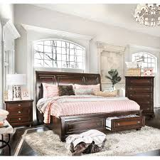 Mission Style Bedroom Furniture Cherry Furniture Of America Barelle I Cherry Finish Solid Wood 3 Piece
