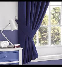Navy Tab Top Curtains Brand New Pair Of Slate Ridge Lima Navy Tab Top Curtains With Tie