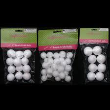 50 foam polystyrene craft styro white balls