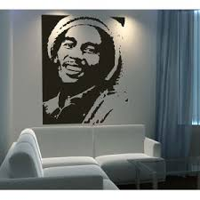 chambre bob marley stickers mural celebrite bob marley chanteur pas cher