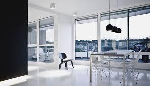 ultra modern black and white copenhagen penthouse design home