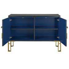 contempo black and gold sideboard cosmo chic