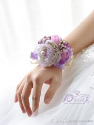 Flower Delivery Free Shipping Korean Violet Wrist Flower Corsage The Bride Bridesmaid Wrist