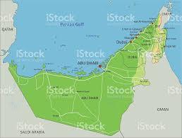 United Arab Emirates Map High Detailed United Arab Emirates Physical Map With Labeling