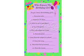 who knows the best who knows the birthday girl printable birthday party
