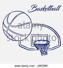 sketch of a basketball ball stock vector art u0026 illustration