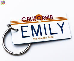 California Gifts 35 Best Personalized State License Plate Keychains Souvenirs