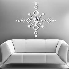 65x65cm home decor big wall clock modern design windbell geometric