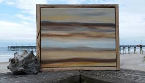 inspired coastal seashell abstract landscape seascape