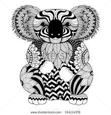 koala bear coloring page koala silhouette stock images royalty free images u0026 vectors