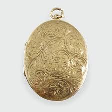 Engraved Pendant Vintage Floral Engraved Pendant Locket In 9ct Gold