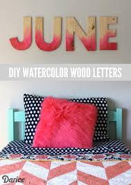 diy watercolor wood letters tutorial darice