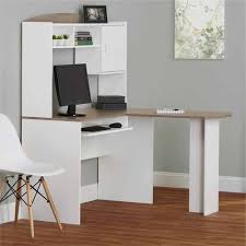amazon com corner l shaped office desk with hutch white sonoma