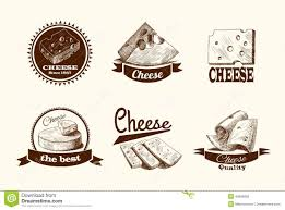 cheese sketch labels stock vector image 40586095