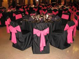Pink Chair Covers Vila U0027s Blog Black Chair Covers Make The Pink Sashes Pop Filling