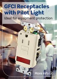 gfci receptacle with indicator light gfci receptacles with pilot light ideal for equipment protection