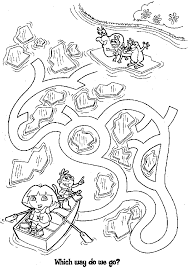 dora the explorer coloring pages kids world