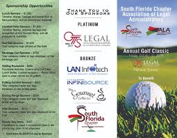 Charity Golf Tournament Welcome Letter association of legal administrators south florida chapter
