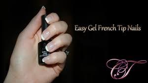 easy french tip manicure using dotting tool uv led gel polish