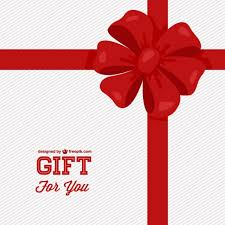 big present bow gift card with big bow vector free